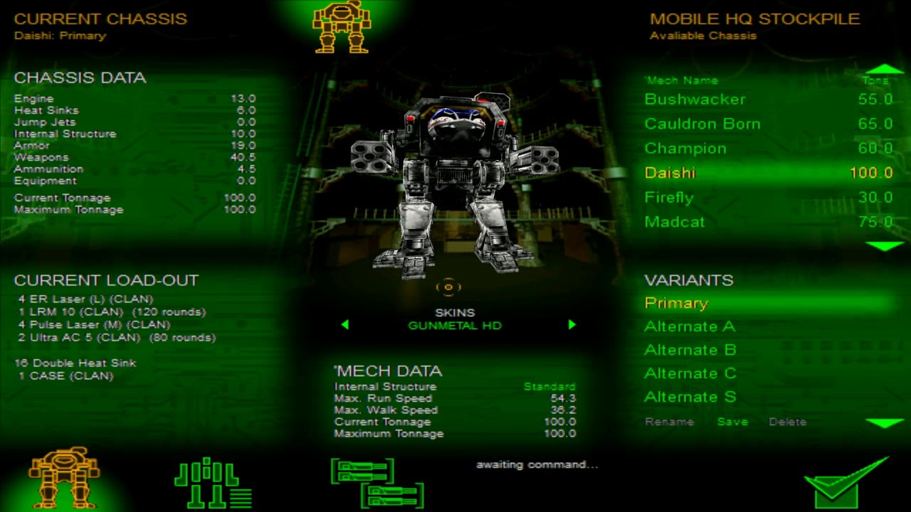 Freako's Updated HD Skins for MechWarrior 3