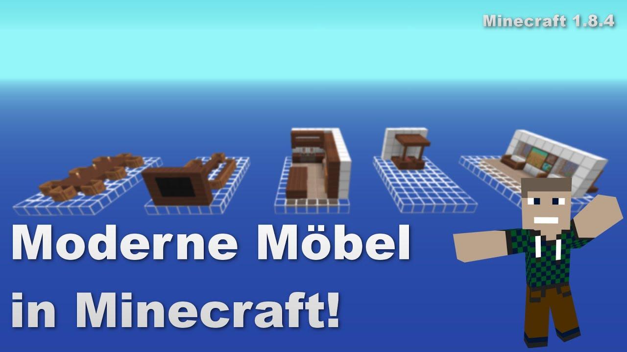 moderne m bel in minecraft minecraft showcase. Black Bedroom Furniture Sets. Home Design Ideas