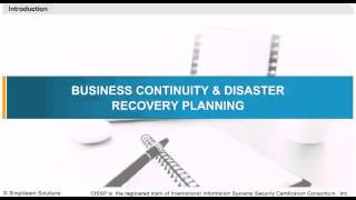 Business Continuity and Disaster Recovery Planning | CISSP Online Training & Certification