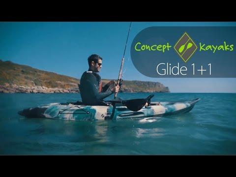 Concept Glide 1+1 - Single Fishing Sit-on-top Kayak