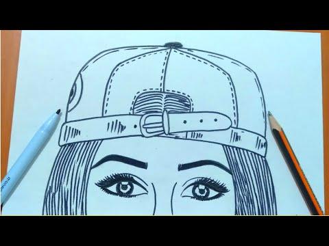 تعليم الرسم رسم بنت من الخلف بالرصاص سهل جدا للمبتدئين خطوة