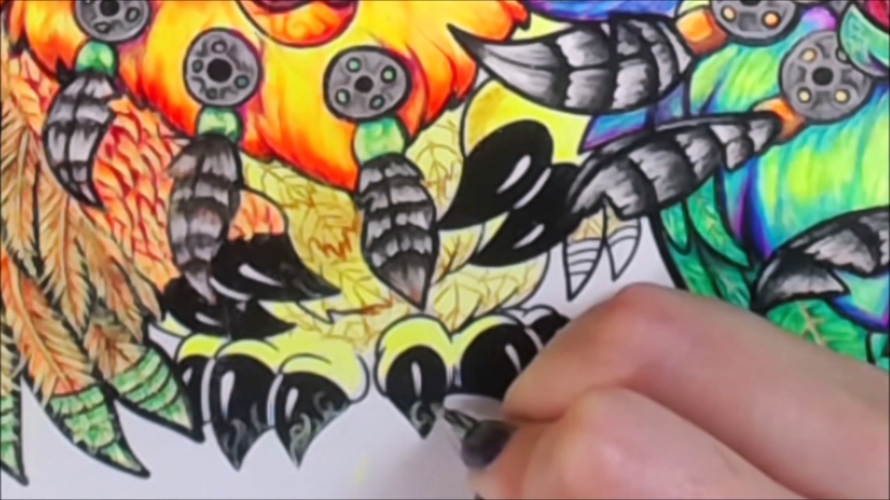 Coloring With Gel Pens