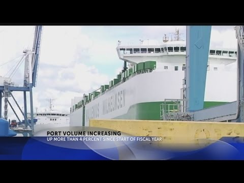 Container volume increases at SC ports
