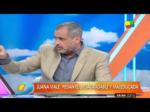 En Intrusos: Jorge Rial atendió duro a Juana Viale