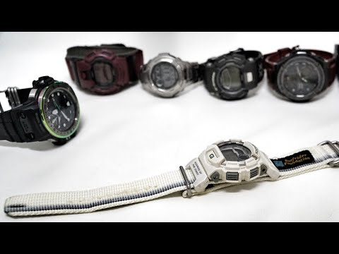 Vintage G-Lide Series G-Shock DW-9500SR-8T White Grey SRF Collaboration Watch Review