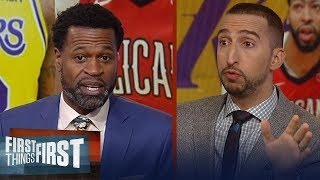 Stephen Jackson loves Kobe urging Lakers to trade young guys for AD | NBA | FIRST THINGS FIRST