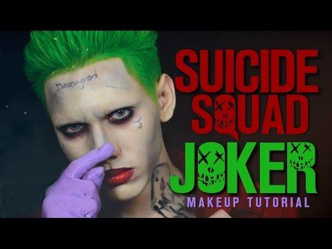Suicide Squad Joker Makeup Tutorial Youtube - Joker-makeup-tutorial