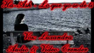 Lo que yo se de ti - Ha-Ash Cover *Luxandra*