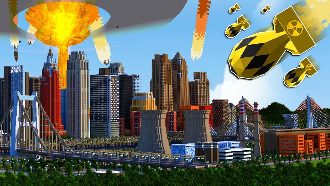 EXPLODING A MINECRAFT NUKE IN MINECRAFT'S LARGEST CITY ...