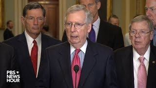 WATCH: Senate Republican leaders speak to reporters following party policy luncheon