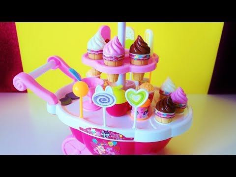 My Little Pony Ice Cream Cart and toy surprises unboxing video for children
