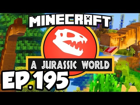 Jurassic World: Minecraft Modded Survival Ep.195 - THE CASE OF THE RED PTERANODON!! (Dinosaurs Mods)