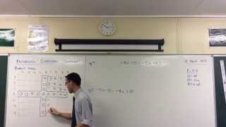 Factorising Algebraic Expressions (2 of 2: With Negatives)