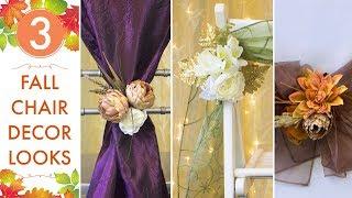 Fall Wedding Ideas   Top 3 Chair Decor Looks   BalsaCircle.com