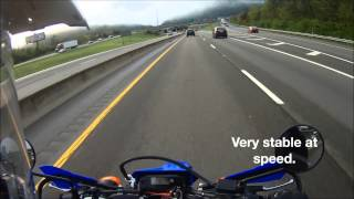 Yamaha WR250R Morning Interstate Highway Commute