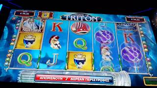 Scatter bet 0.60€ Legend of Triton play opap casino