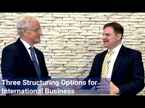 Three Structuring Options for International Business