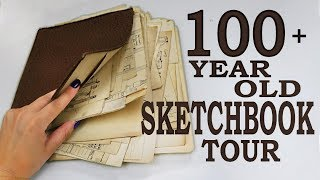 I BOUGHT A 100+ YEAR OLD SKETCHBOOK! (1913 sketchbook tour)