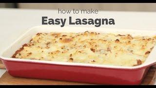 How to Make Easy Lasagna  Yummy Ph