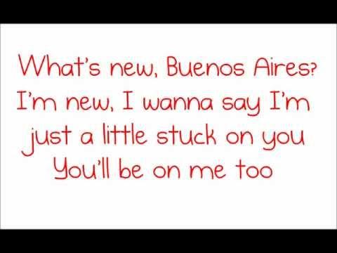 Glee - Buenos Aires (Lyrics)