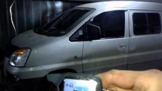 Установка сигнализации с автоматическим запуском двигателя на Hyundai H1 (Starex).