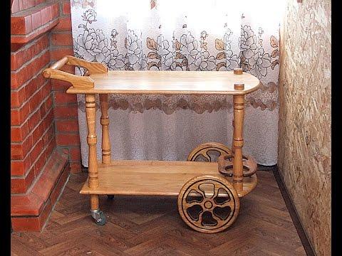 Столик прикроватный на колесиках своими руками