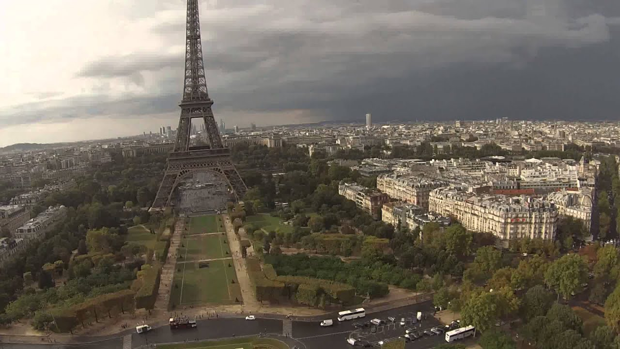 paris eiffel tower drone youtube. Black Bedroom Furniture Sets. Home Design Ideas