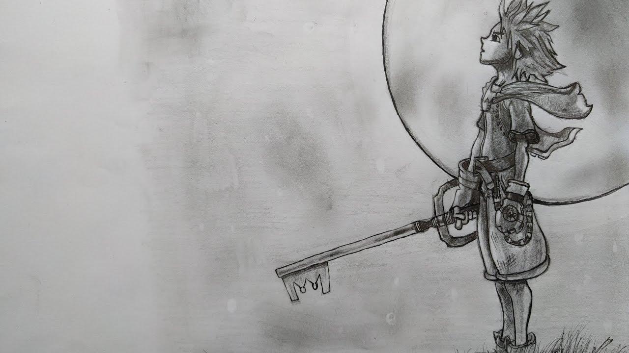 Drawing Sora Kingdom Hearts Youtube