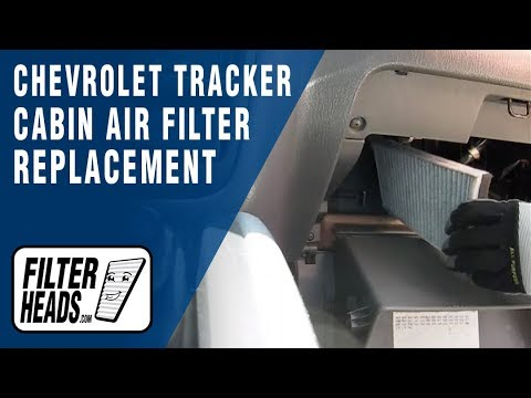 Cabin air filter replacement Chevrolet Tracker  YouTube