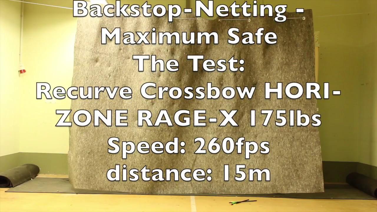 Backstop-Netting.com Cible pour tir /à larc Maximum Safe 2m Largeur x 2m avec Accessoires Hauteur