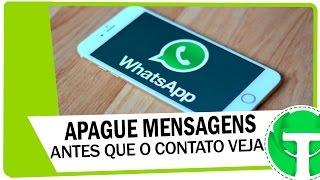 WhatsApp permite apagar mensagens antes que a outra pessoa veja, confira! thumbnail