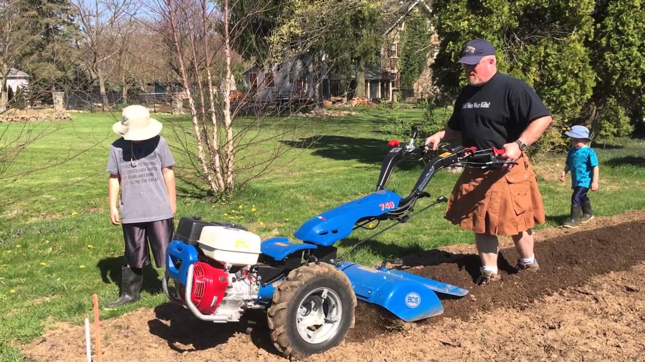 Bcs Garden Tractors : Bcs walk behind tractor rototiller and hiller furrower