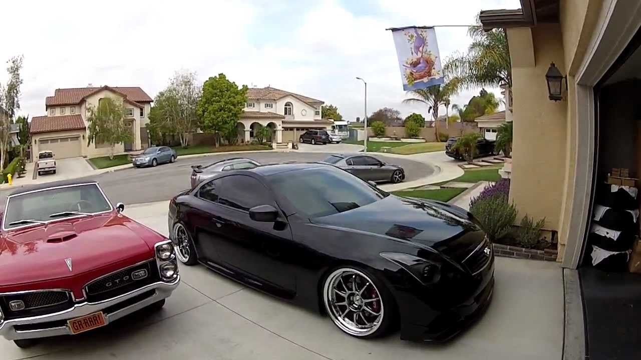 """Coupe Vs Sedan >> Rudy's Infiniti G37S on 20"""" SSR's Slammed - YouTube"""