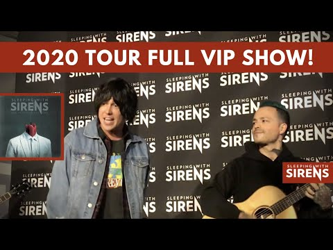 *VIP ONLY* Sleeping W Sirens *UNRELEASED* Acoustic Versions (2020 Tour, Joliet, IL)