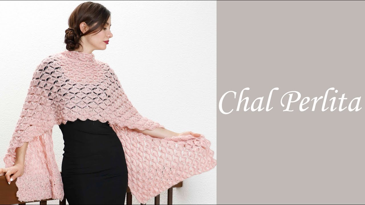 Cómo tejer fácil un chal elegante - Chal perlita Alize - Estambres ...