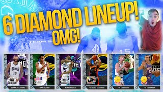 NBA 2K16 My Team ALL DIAMOND TEAM! HE NOT MISSING DOWN TO THE WIRE!