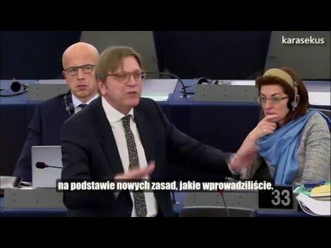 Guy Verhofstadt: Tak czy nie? (Pytanie do premier Szydło)