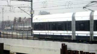 Hudson Bergen Light Rail departing Hoboken Terminal for Tonnelle Ave