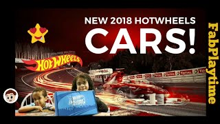 2018 NEW HotWheels Cars Unboxing with J Baby and Mellie!   FabPlaytime