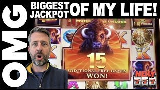I JUST HIT THE BIGGEST JACKPOT of MY LIFE! 🐂💰BUFFALO XTREME SLOT MACHINE @ San Manuel Casino!