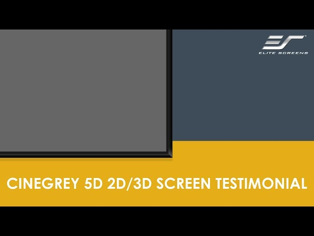 Introducing CineGrey 5D, an ambient light rejecting 2D/3D material
