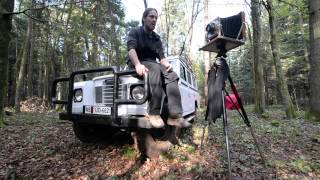 Wet Plate Collodion Photography with a Land Rover 109, y1972