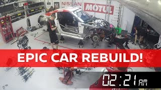 Rebuilding the GT-R NISMO GT3 in just 12 hours! #Spa24h
