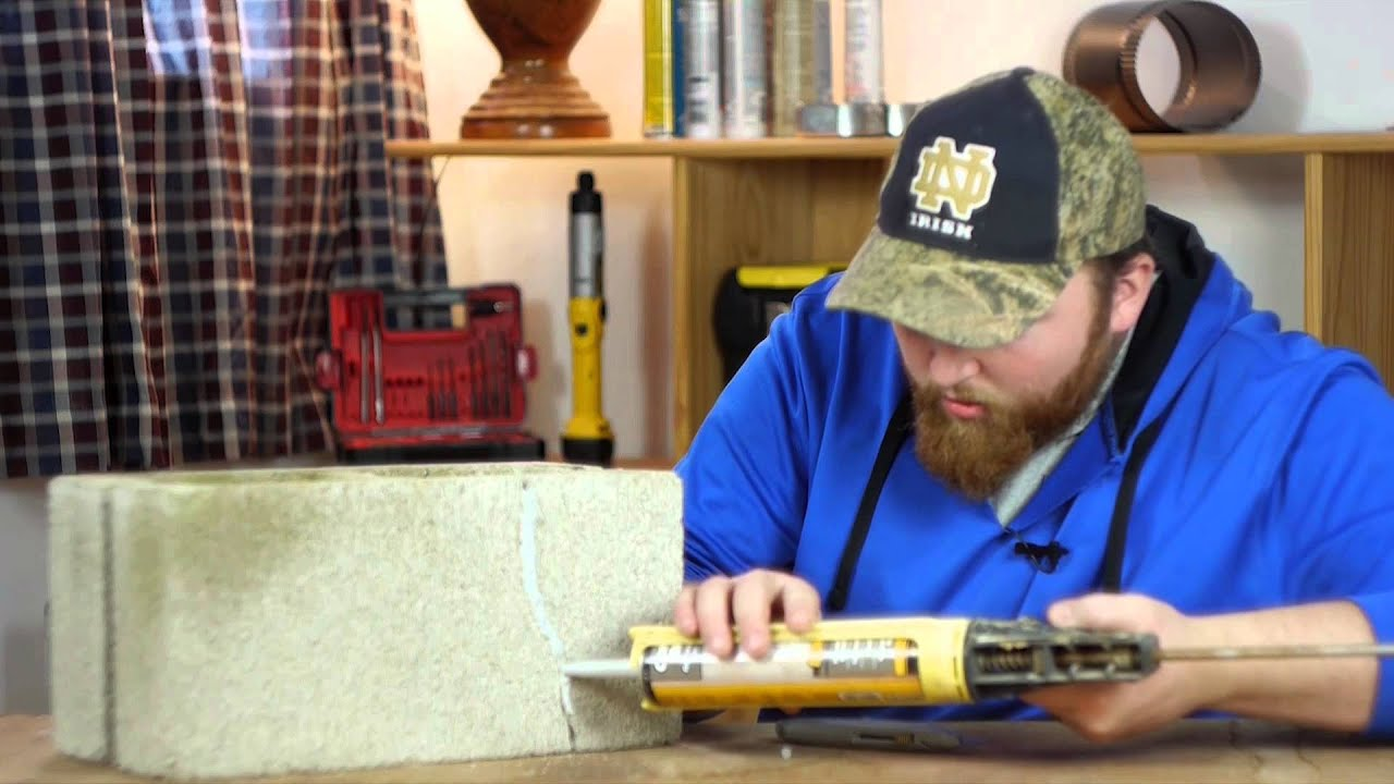 How to fix a cracked block - How To Fix Cracks In Cement Block With Polyurethane Caulk Caulking Tips