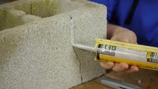 How to Fix Cracks in Cement Block With Polyurethane Caulk : Caulking Tips