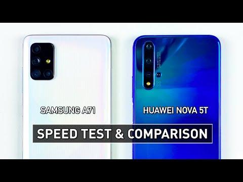 SAMSUNG A71 Vs HUAWEI NOVA 5T SPEED TEST & GAMING COMPARISON