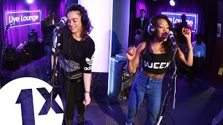 Debris and Lady Leshurr perform Over The Loudness in the 1Xtra Live...