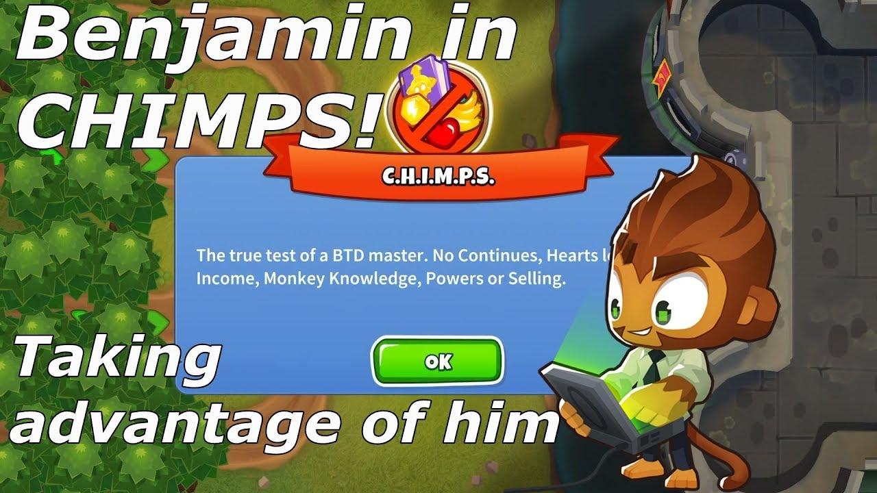 Bloons TD 6 - How good is Benjamin in CHIMPS? Dark Castle (BTD6 v10 1)