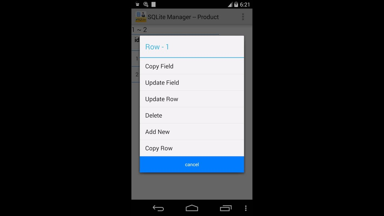SQLite Manager For Android