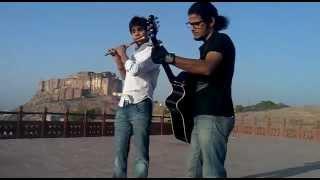 kesariya balam on flute & guitar